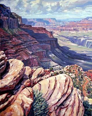 Painting - Canyon View by Donald Maier