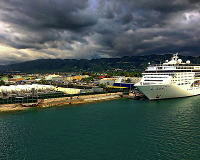 Photograph - Caribbean Cruise Ship by Anthony Dezenzio
