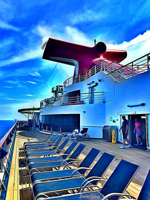Digital Art - Carnival Pride Deck by Stephen Younts