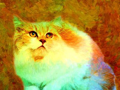 Domestic Animals Digital Art - Cats by Elena Kosvincheva