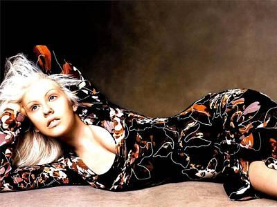 Christina Digital Art - Celebrity Christina Aguilera                    by Fran Sotu