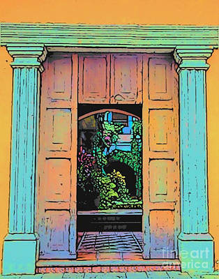 Photograph - Central America Courtyard by Lisa Dunn