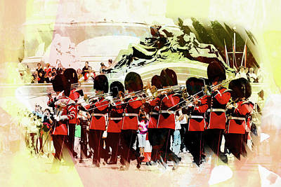 Changing Of The Guard Art Print