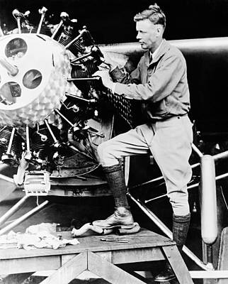 Jet Photograph - Charles Lindbergh by American School
