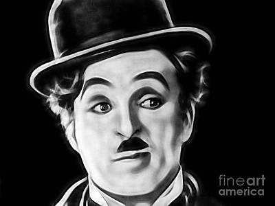 Charlie Chaplin Collection Print by Marvin Blaine