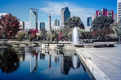 Photograph - Charlotte North Carolina Cityscape During Autumn Season by Alex Grichenko