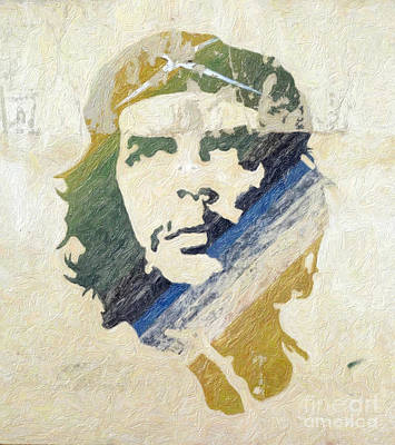 Leader Painting - Che Guevara by Celestial Images