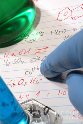 Chemistry Formulas In Science Research Lab Art Print