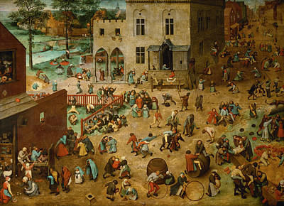 Painting - Children's Games by Pieter Bruegel the Elder