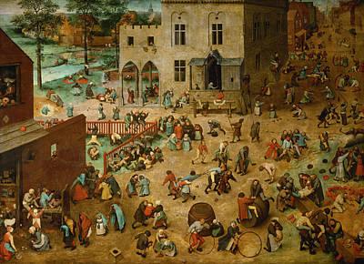 Bruegel Painting - Children's Games by Pieter Bruegel the Elder