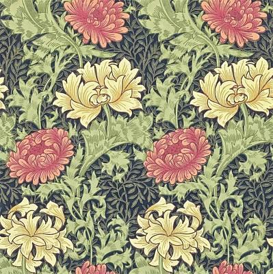 William Morris Painting - Chrysanthemum by William Morris