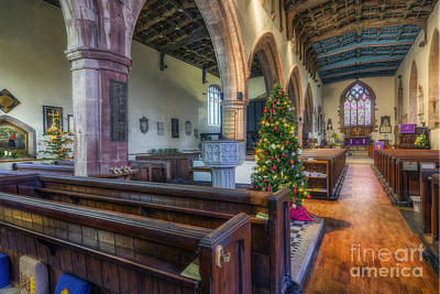 Winter Light Photograph - Church At Christmas by Ian Mitchell