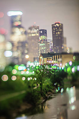 Photograph - City Of Houston Texas Downtown Skyline With Tilt Lens by Alex Grichenko