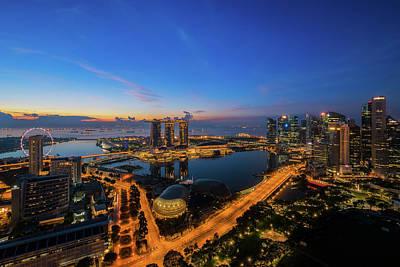 Habor Photograph - cityscape of Singapore city  by Anek Suwannaphoom