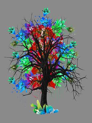 Color Tree Collection Art Print