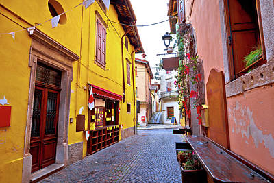 Photograph - Colorful Cobbled Street Of Cividale Del Friuli by Brch Photography