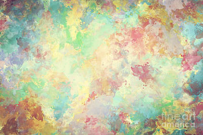 Paper Photograph - Colorful Watercolor Paint On Canvas. Super High Resolution And Quality Background by Michal Bednarek