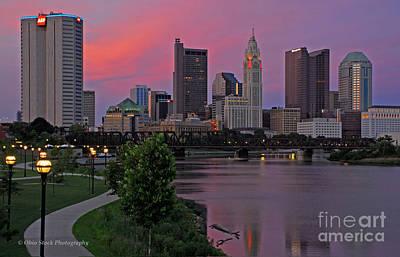 D2l37 Columbus Ohio Skyline Photo Art Print