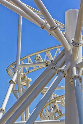 Roller Coaster Photograph - Coney Island Roller Coaster Detail by Robert Ullmann