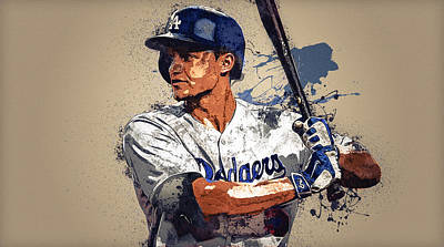 Los Angeles Dodgers Digital Art - Corey Seager by Anna J Davis