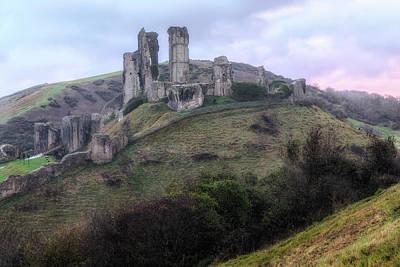 Corfe Castle - England Art Print by Joana Kruse