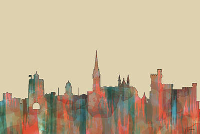 Digital Art - Cork Ireland Skyline by Marlene Watson