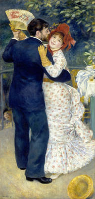 Ballroom Painting - Country Dance by Pierre-Auguste Renoir
