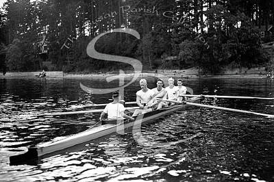 Photograph - Crew Racers At The Olympia Country Club, August 28, 1936 by Vibert Jeffers