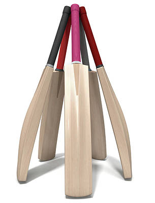 Cricket Digital Art - Cricket Bat Circle by Allan Swart