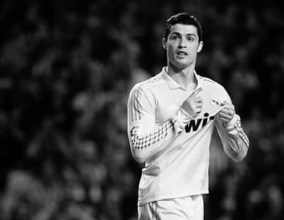 Athletes Royalty-Free and Rights-Managed Images - Cristiano Ronaldo 9 by Rafa Rivas