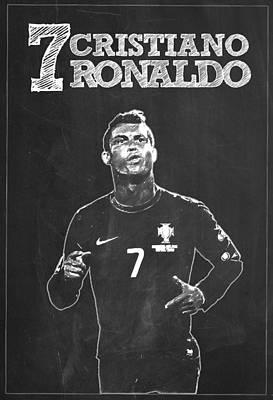 Cristiano Ronaldo Digital Art - Cristiano Ronaldo by Semih Yurdabak