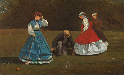 Painting - Croquet Scene by Winslow Homer