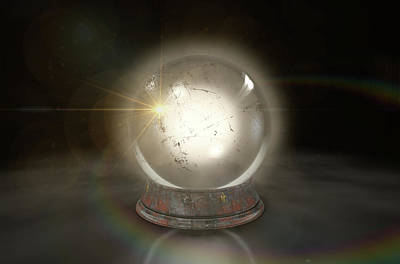 Crystal Ball Glowing Art Print by Allan Swart