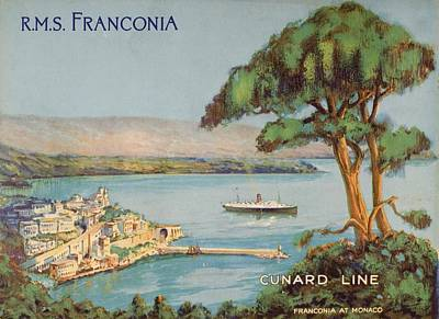 Cunard Line Promotional Brochure For Art Print