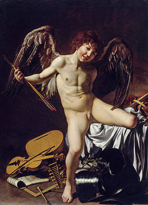 Cupid Painting - Cupid As Victor by Caravaggio