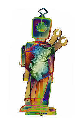 Toy Store Digital Art - D4x X-ray Robot Art Photograph by Roy Livingston