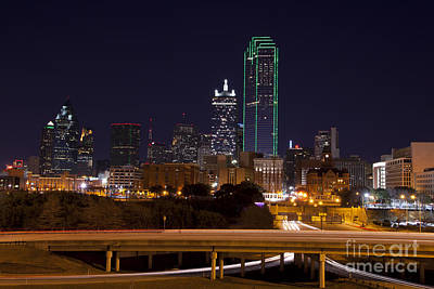 Metroplex Office Photograph - Dallas Texas Night by Anthony Totah
