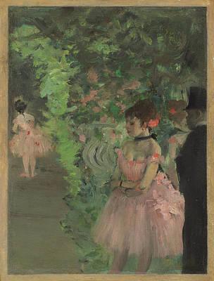 Painting - Dancers Backstage by Edgar Degas