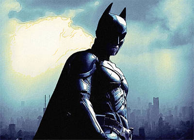 Dark Batman Poster Print by Egor Vysockiy