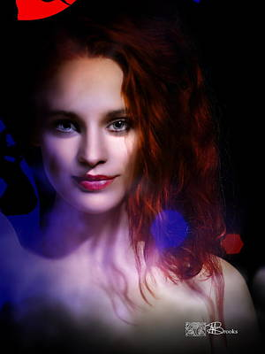 Fantastique Digital Art - Dark Lady by Mark Brooks
