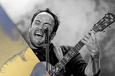 Dave Matthews Mixed Media - Dave Matthews Collection by Marvin Blaine