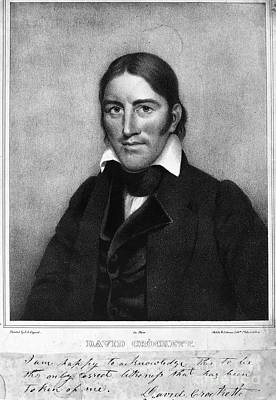Davy Crockett (1786-1836) Print by Granger