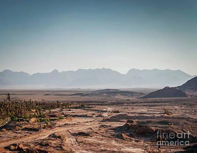 Photograph - Desert Landscape View In Garmeh Oasis Southern Iran by Jacek Malipan