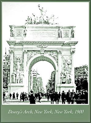 George Dewey Monument Photograph - Dewey's Arch, New York, 1900, Vintage Photograph by A Gurmankin