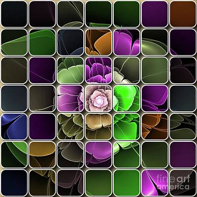 Abstract Flowers Royalty-Free and Rights-Managed Images - Digital Abstract Art by Sarah Kirk