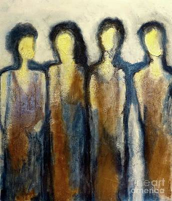 Painting - 4 Diva's by Gallery Messina