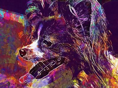 Chihuahua Digital Art - Dog Chihuahua Cute Small Dog Pets  by PixBreak Art