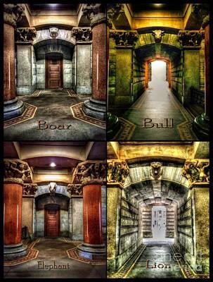 Walkway Digital Art - 4 Doors - Philadelphia City Hall by Dan Stone