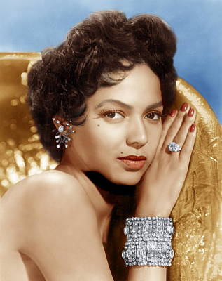 Diamond Earrings Photograph - Dorothy Dandridge, Ca. 1950s by Everett