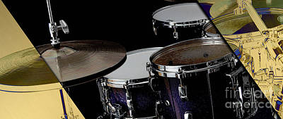 Drum Kit Mixed Media - Drums Collection by Marvin Blaine